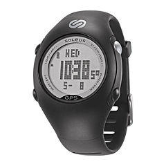 Soleus Womens GPS Mini Black Strap Chronograph Watch