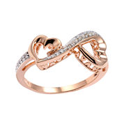Love Grows™ 1/10 CT. T.W. Diamond Double-Heart Ring