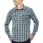Wrangler® Long-Sleeve Western Woven Shirt