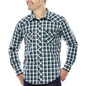 Wrangler® Long-Sleeve Western Woven Shirt
