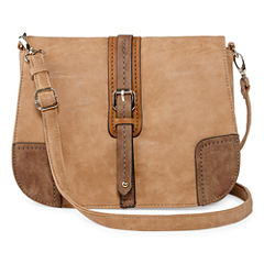 Louis Cardy Front Buckle Large Messenger Crossbody Bag