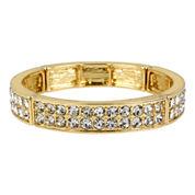 Worthington® Gold-Tone Two-Row Crystal Bangle