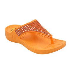 OMGirl Sommer Multi-Rhinestone Molded Girls Flip-Flop Sandals - Little Kids
