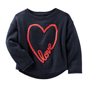 OshKosh B'Gosh® Long-Sleeve Heart Sweater - Preschool Girls 4-6x