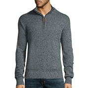 St. John's Bay® Long-Sleeve Quarter-Zip Sweater