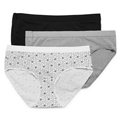 Hanes Xtemp 3 Pair Knit Hipster Panty