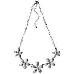 Bold Elements Womens Clear Collar Necklace