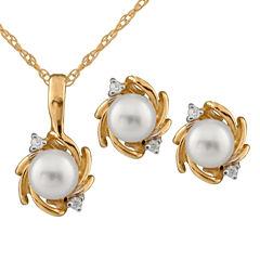 Girls 2-pc. Diamond Accent White Diamond 14K Gold Jewelry Set
