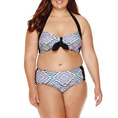 Arizona Diamond Fantasy Bralette Swim Top or Hi-Waist Bottoms - Juniors Plus