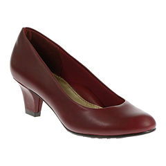 Hush Puppies® Gail Leather Pumps - Narrow