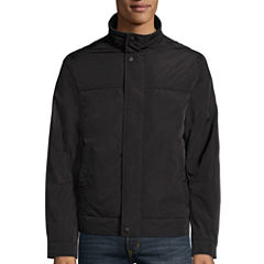 Dockers® Faux Memory Rib Knit Stand Collar Bomber