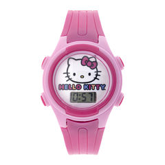 Hello Kitty® Kids Pink Plastic Strap Digital Watch