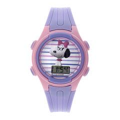 Peanuts Snoopy Kids Purple Plastic Strap Digital Watch