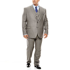 Stafford® Travel Gray Sharkskin Suit Separates - Big & Tall