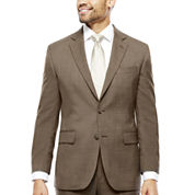 Stafford® Travel Brown Sharkskin Classic Fit Jacket