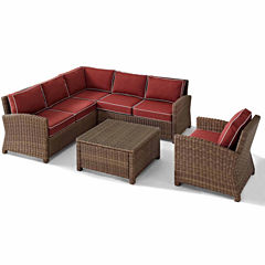 Bradenton Wicker 5-pc. Patio Lounge Set