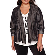 Boutique+ Draped Cargo Jacket - Plus