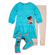 Disney Collection Moana 2-pc. Dress Set or Boots - Girls