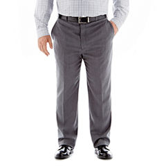 Stafford® Executive Super 100 Wool Flat-Front Suit Pants–Big & Tall