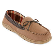 Rockport® Mens Plaid Suede Moccasin Slippers