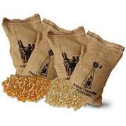 Farm Fresh Burlap Popcorn Kernel Bags - Set of 4