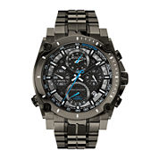 Bulova® Precisionist Mens Gray Stainless Steel Chronograph Watch 98B229