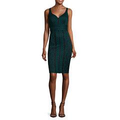 Bisou Bisou® Sleeveless V-Neck Lace Dress
