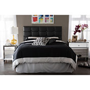 Baxton Studio Bordeaux Faux-Leather Headboard