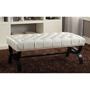 Baxton Studio Viviana Faux-Leather Upholstered Bench