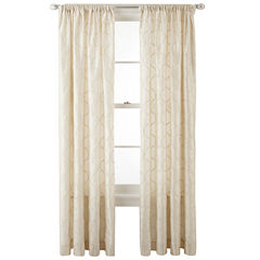 Royal Velvet® Geneva Rod-Pocket Curtain Panel