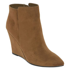 Worthington® Lapaz Pointed-Toe Wedge Ankle Booties