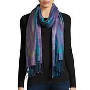 Allover Paisley Oblong Scarf