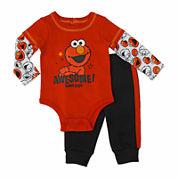 Sesame Elmo Boys Pant Set-Baby