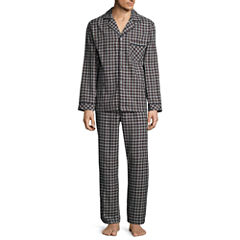 Stafford® 2-pc. Flannel Pajama Set - Big & Tall