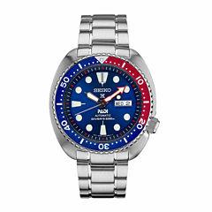 Seiko Mens Silver Tone Bracelet Dive Watch-Srpa21