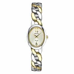 Seiko Womens Two Tone Bracelet Watch-Sup336