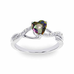Diamond Accent Multi Color Mystic Fire Topaz Cocktail Ring
