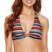 a.n.a® Striped Ombre Halter Swim Top