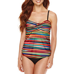 a.n.a® Mix & Match Ombre Striped Twist Swim Tankini Top or Foldover Hipster Swim Bottoms
