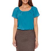 Worthington® Pleated Neck Blouse or Pencil Skirt
