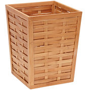 Household Essentials® Bamboo Trash Can