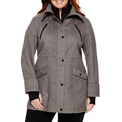 Liz Claiborne® Snap-Collar Softshell Jacket-Plus
