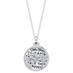 Inspired Moments Womens White Cubic Zirconia Pendant Necklace
