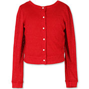 Speechless Long Sleeve Sweater Knit Cardigan - Big Kid