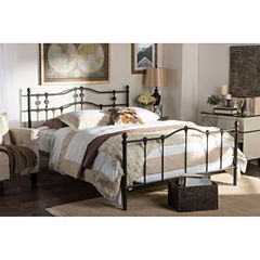 Baxton Studio Wendy Chic Vintage Iron Metal Platform Bed