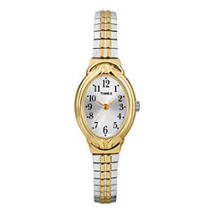 Timex® Womens Two-Tone Oval Expansion Watch T2N980