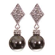telio! by Doris Panos Silver-Tone Alysee Pearl Drop Earrings