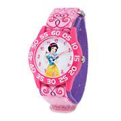 Disney Snow White Kids Time Teacher Print Nylon Strap Watch