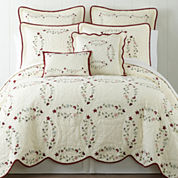 Home Expressions Hope Chest Embroidered Quilt & Accessories
