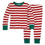 North Pole Trading Co Family Pajamas Unisex Long Sleeve Kids Pajama Set